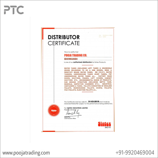 sintex distributor ship
